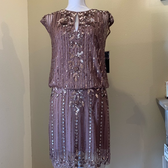 cc17f0963b19d Aidan Mattox Dresses | Beaded Cocktail Dress | Poshmark